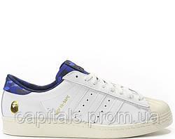 "Мужские кроссовки Adidas Consortium X UNDFTD X Bape Superstar 80V ""White"""