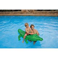Детский надувной плотик Крокодил Одноместный Intex 58546 (168х86 см.) , фото 1