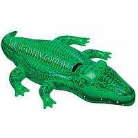Детский надувной плотик Крокодил Двухместный Intex 58562 (203x114 см.)