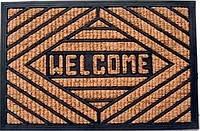 """Коврик с кокосовым волокном""""Welcome""""цвет коричневый,размер 75 х45,Производитель Индия."""
