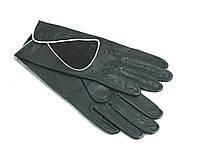 """Перчатки женские кожаные""""AlpaGloves"""" без подкладки черные"""