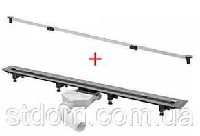 Трап для ванної кімнати Viega Advantix Vario 721671 + Дизайн-вставка Visign SR2, глянцева (686291)