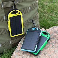 Солнечное зарядное устройство Power Bank 10000mAh, на солнечных батареях, внешний аккумулятор