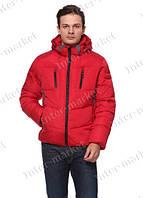 Мужская зимняя куртка с капюшоном очень теплая красная