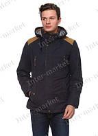 Мужская зимняя куртка с капюшоном очень теплая черная
