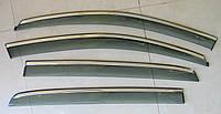 GOLF 6 MK6 2009-2013 ветровики с молдингом нерж сталь