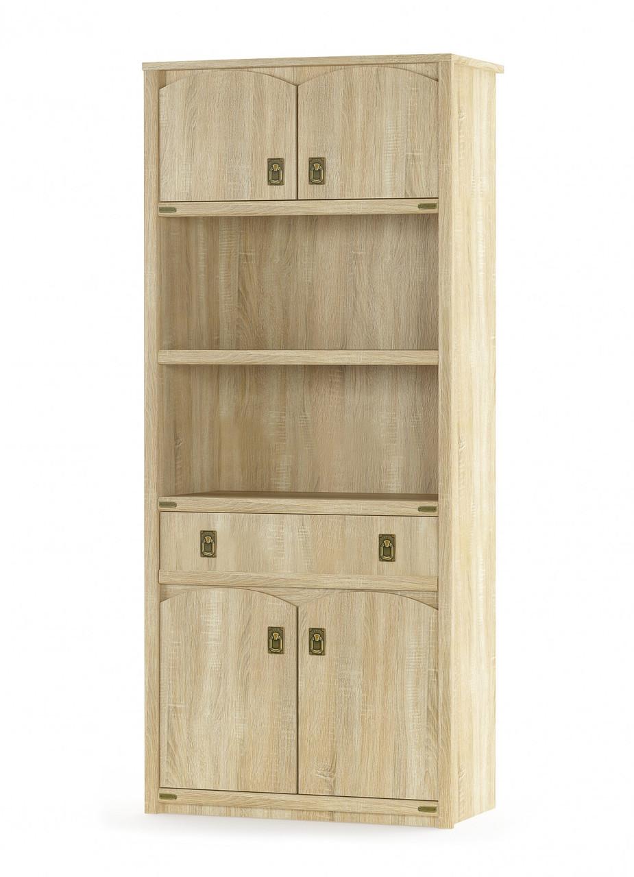 Шкаф книжный 4Д1Ш Валенсия Мебель-сервис