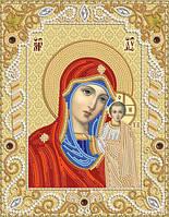 Ткань с рисунком для вышивания бисером Венчальная пара. Богородица Казанская РИК-4002