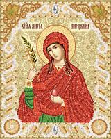 Ткань с рисунком для вышивания бисером Св. Мироносица Мария Магдалина РИК-5539