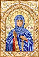 Ткань с рисунком для вышивания бисером Св. Прп. Ангелина (Алина) РИК-6104