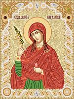 Ткань с рисунком для вышивания бисером Св. Мироносица Мария Магдалина РИК-4239