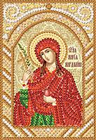 Ткань с рисунком для вышивания бисером Св. Мироносица Мария Магдалина РИК-6139