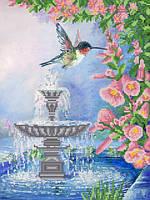 Ткань с рисунком для вышивания бисером Серебряный фонтан РКП-573