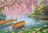 Ткань с рисунком для вышивания бисером Чарующая красота весны РКП-577