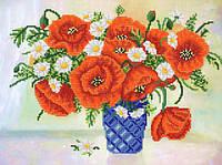 Ткань с рисунком для вышивания бисером Контраст РКП-579