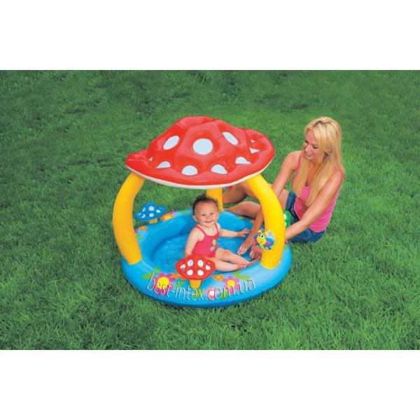 Intex 57407 (102х89 см.) Детский надувной бассейн «Грибочек»
