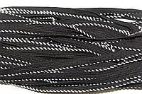 Кант текстильный (50м) черный+белый