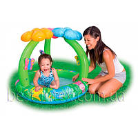 Intex 57419 (102x81см.) Детский надувной бассейн Цветок
