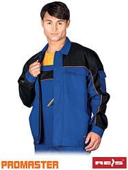 Куртка рабочая мужская синяя REIS Польша (спецодежда роба униформа) PRO-J NBP
