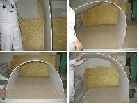 Гипсокартон арочный KNAUF (Кнауф) 6.5мм 1.2м х 2.5м