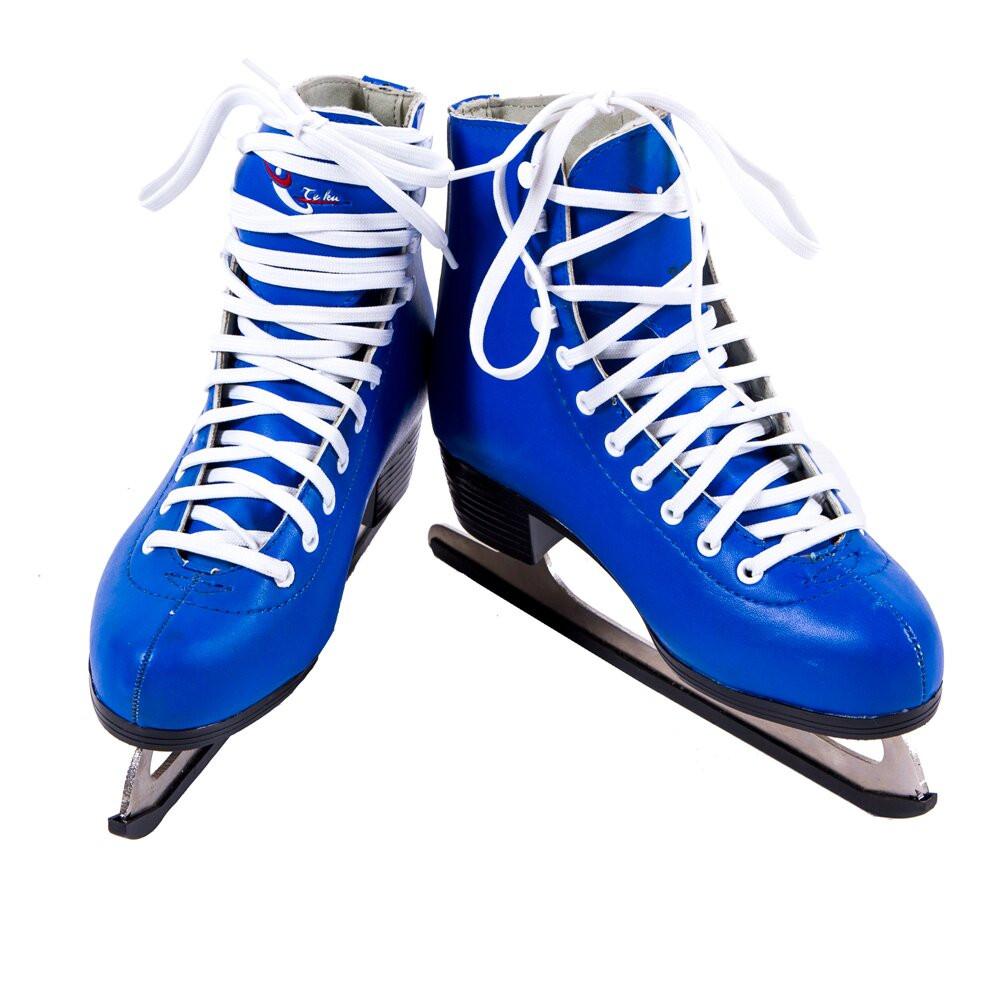 Коньки фигурные голубые  Teku (PVC) ТК-082BL