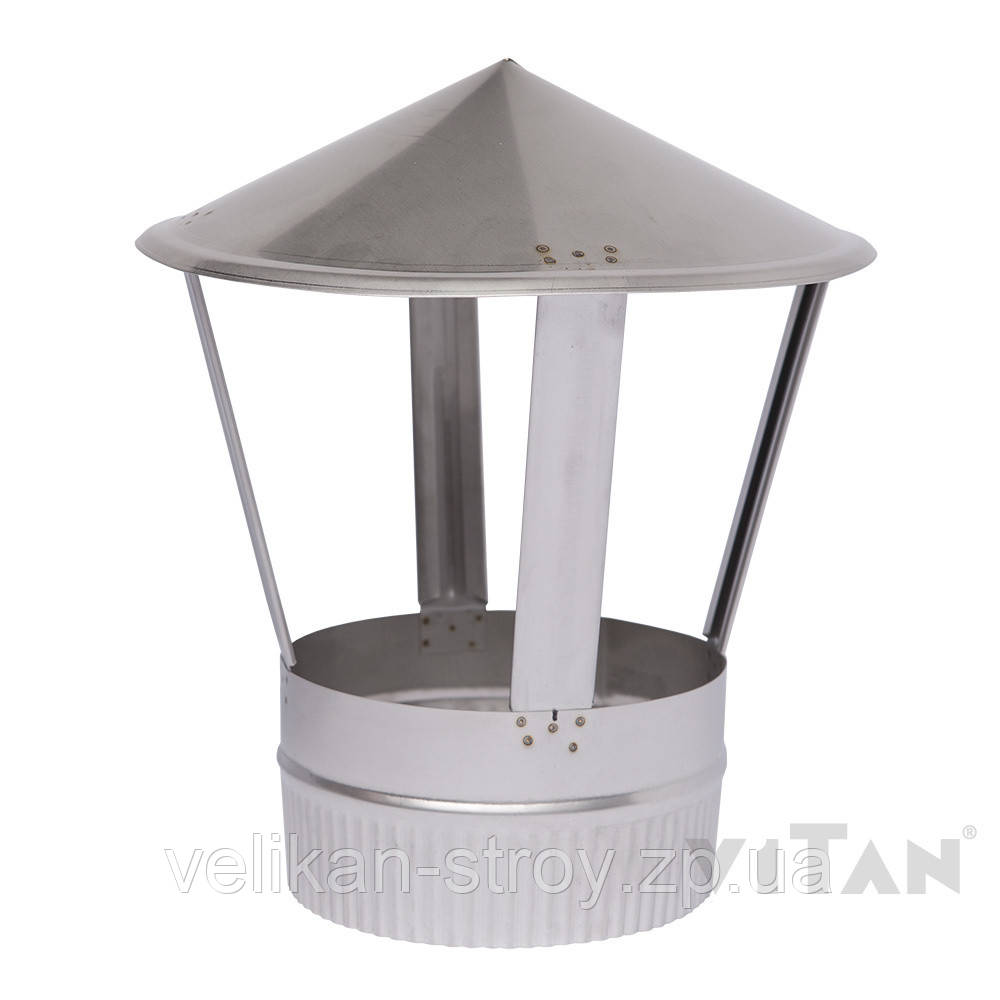 Зонт вентиляционный 135 мат одностенный
