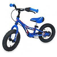 Беговел Alexis Baby Mix надувные колеса синий