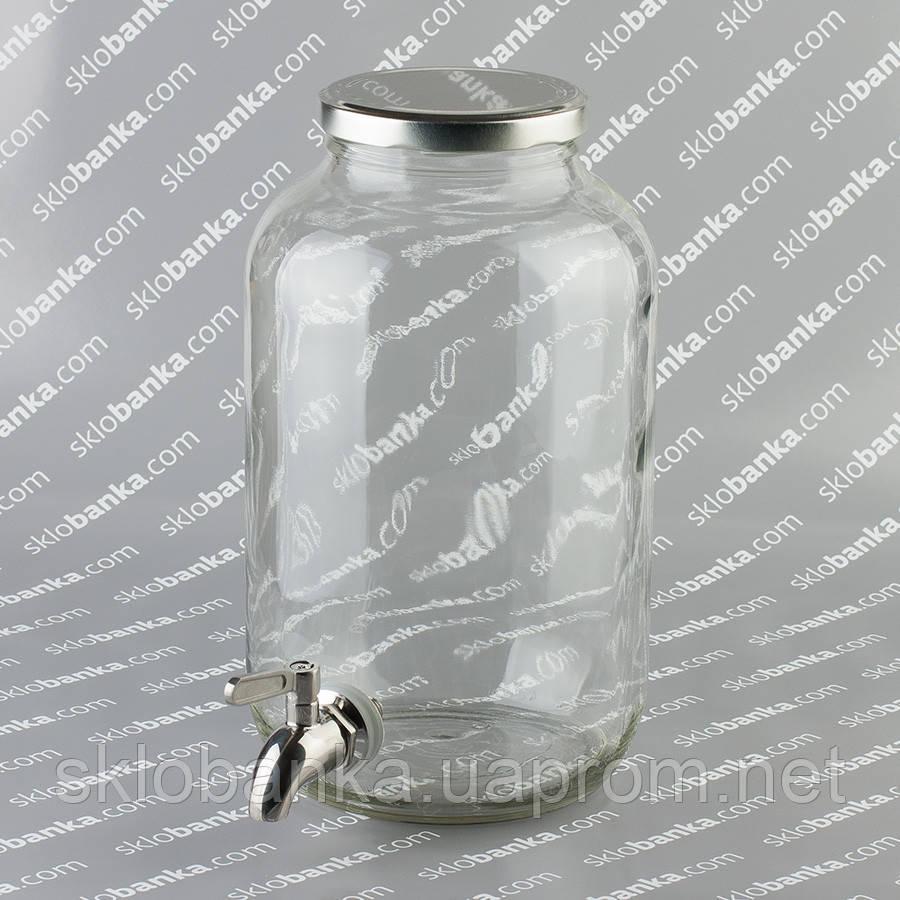 Диспенсер для напитков со стальным краном