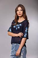 Шифоновая блуза с вышивкой, фото 1