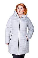 Куртка зимняя размер плюс женская Катрина св.серый