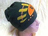 Вязанная шапочка для мальчика цвет черный