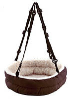 Лежак - гамак подвесной для мелких животных, 30 х 8 х 25 см