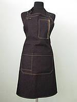 Джинсовые фартуки с нагрудником, с карманами, современные