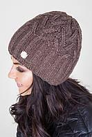 Коричневая женская шапка