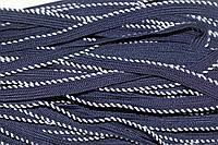 Кант текстильный (50м) т.синий+белый , фото 1