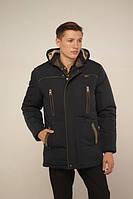 Зимняя мужская куртка цвет темно- синий р-48-58