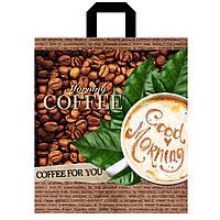 Пакет петлевая ручка 36*42 Чашка кофе