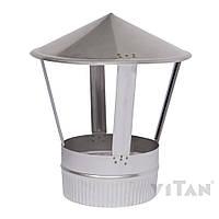 Зонт вентиляционный 200 мат одностенный