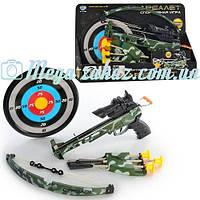 Игрушка для детской стрельбы арбалет Limo Toy: мишень, 3 стрелы на присосках, колчан