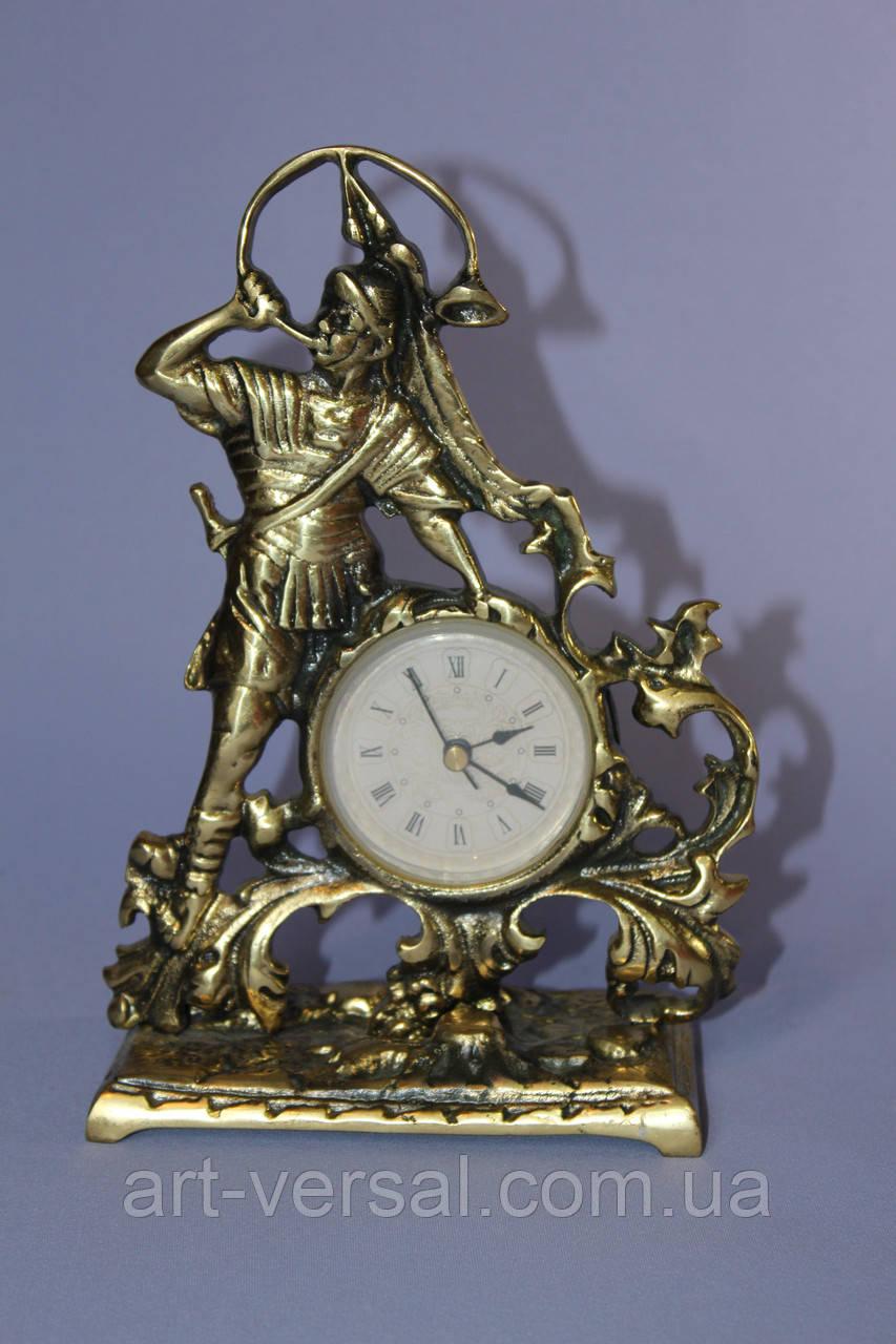 """Часы из бронзы """"Трубач"""""""