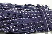 Кант текстильный (50м) т.синий+белый