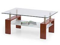 Журнальный столик Halmar Diana Intro вишня со стеклянной столешницей