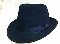 Фетровая  мужская шляпа с полями 5.5 см