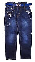 Джинсовые утепленные брюки для девочек оптом, H.L, 98-128 рр., Арт. D177
