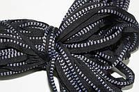 Кант текстильный (50м) черный+серый