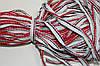 Кант текстильный (50м) белый+красный+т.синий