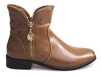 Бежевые ботинки на молнии для женщин