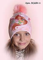 Детская шапка Винкс арт.ЗСДВХ-1