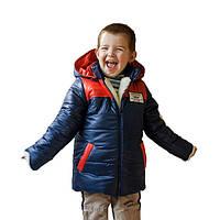 Детская теплая зимняя куртка на мальчика на овчине