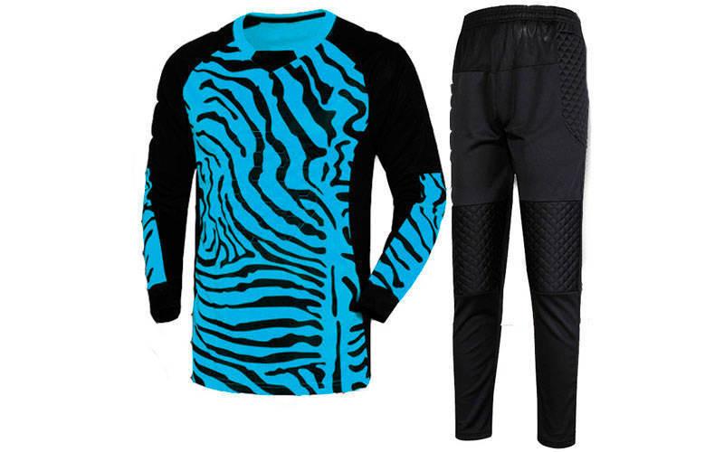 Форма футбольного воротаря дитяча CO-0233-BL синьо-чорна